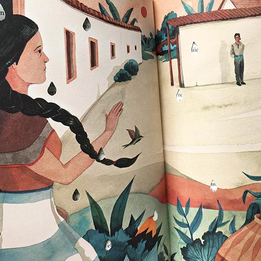 100 años de soledad - Detalle de ilustración - Luisa Rivera