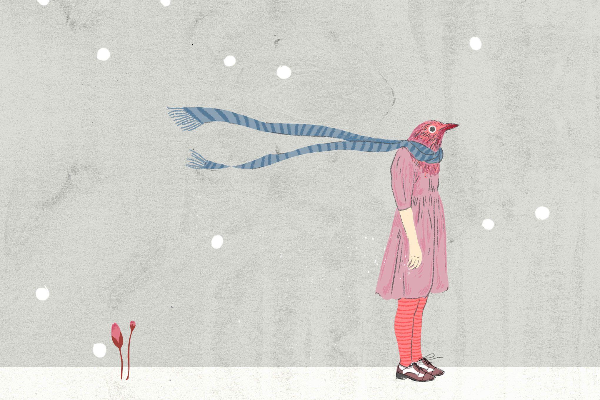 Invierno - ilustración Alejandra Acosta