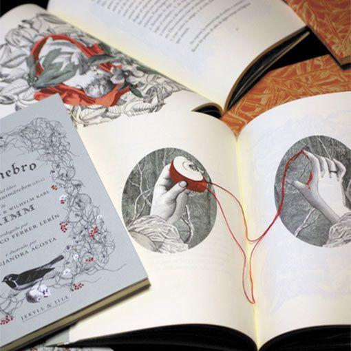 """Interior del libro """"Del Enebro"""""""