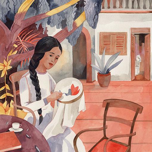 El amor en tiempos del cólera - Detalle de ilustración - Luisa Rivera