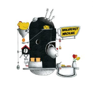 ilustración breakfast machine