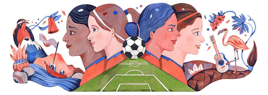 Women's world cup google doodle - luisa rivera