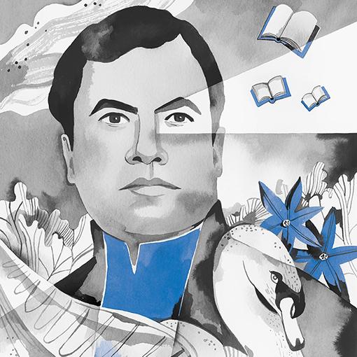 Azul - Rubén Darío - Detalle ilustración Luisa Rivera