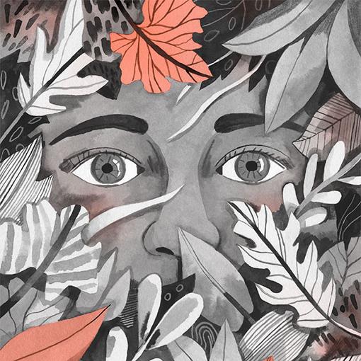 Quiroga - detalle ilustracion Luisa Rivera