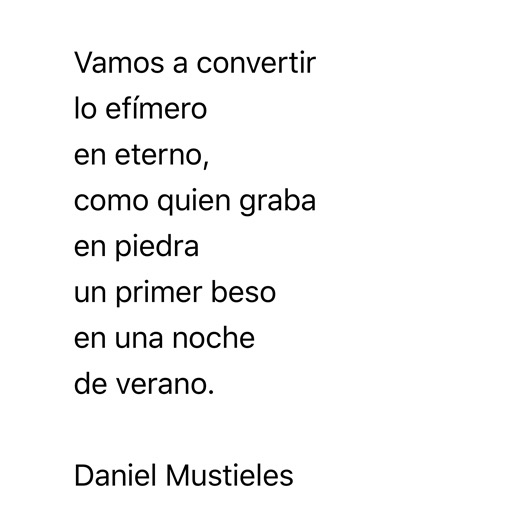 Daniel Mustieles Poema