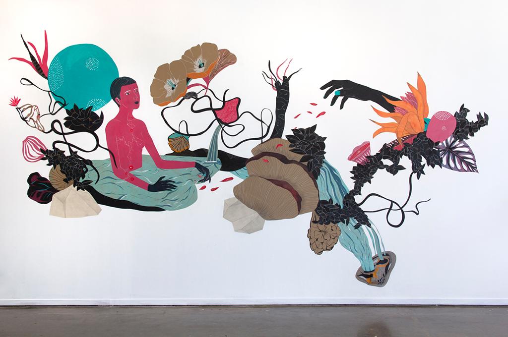 Otros soportes - mural Luisa Rivera